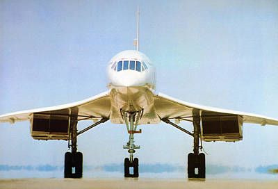 Concorde On Airport Runway Poster