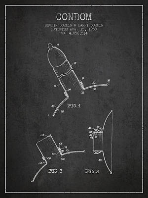 Condom Patent From 1989 - Dark Poster