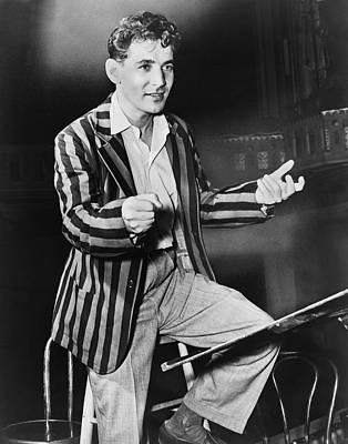Conductor Leonard Bernstein Poster
