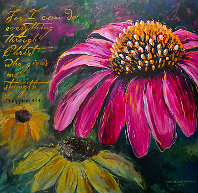 Poster featuring the painting Coneflower by Lisa Fiedler Jaworski