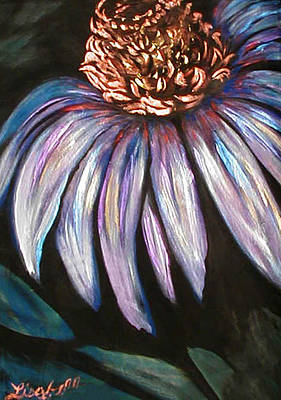 Coneflower Painting Poster by Art By Lisabelle