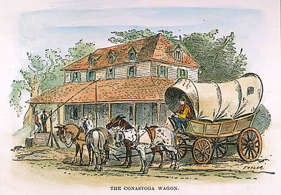 Conestoga Wagon, 19th C Poster by Granger