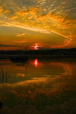 Conesus Sunrise Poster by Richard Engelbrecht