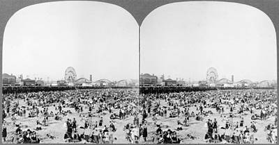 Coney Island Beach C1925 Poster