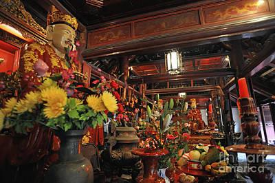 Confucius Statue Inside Dai Bai Duong Pavilion Poster