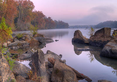 Congaree River At Dawn-1 Poster