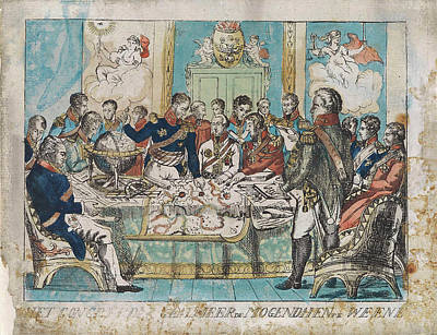 Congress Of Vienna Austria, 1815, Anonymous Poster by Anonymous