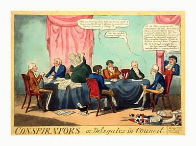 Conspirators Or, Delegates In Council, Cruikshank, George Poster
