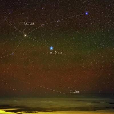 Constellation Grus Poster