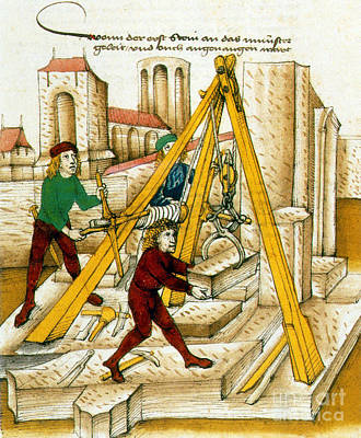 Constructing Church Of Bern, 15th Poster by Photo Researchers
