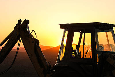 Construction Sunrise Poster