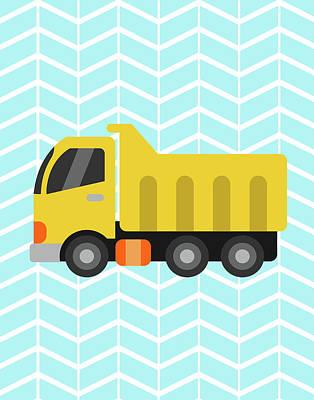 Construction Truck II Poster by Tamara Robinson
