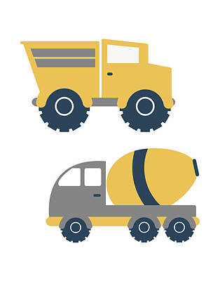 Construction Trucks II Poster by Tamara Robinson