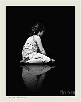 Poster featuring the photograph Contemplation In Dark by Pedro L Gili