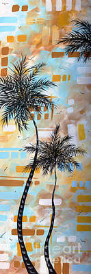 Contemporary Abstract Tropical Palm Tree Painting Colorful And Fun By Megan Duncanson Poster by Megan Duncanson