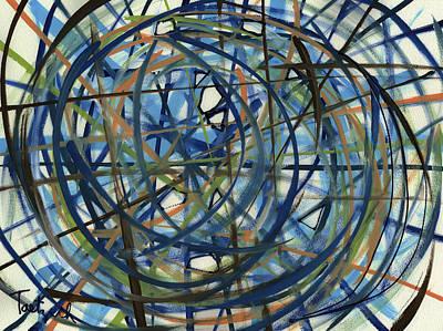 Contemporary Art Seventeen Poster by Lynne Taetzsch