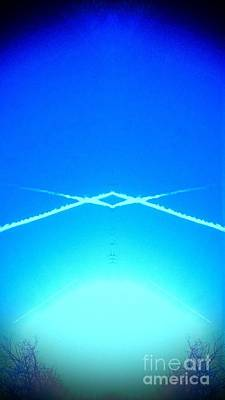 Contrail Pyramid  Poster