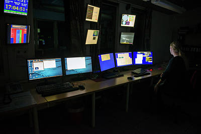 Control Room At Eiscat Poster