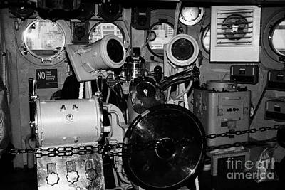 controls of the USS Intrepid at the Intrepid Sea Air Space Museum Poster by Joe Fox