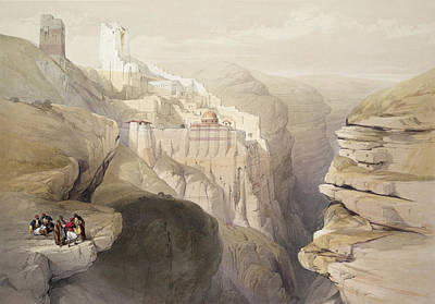 Convent Of St. Saba, April 4th 1839 Poster by David Roberts