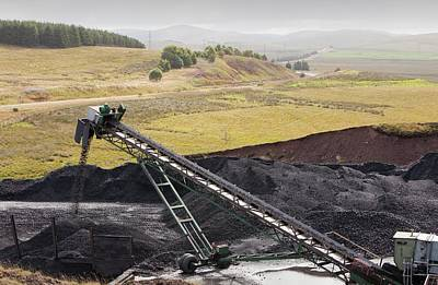 Conveyor With Coal From Opencast Mine Poster by Ashley Cooper