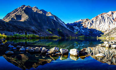 Convict Lake Sunrise Reflection Poster by Scott McGuire