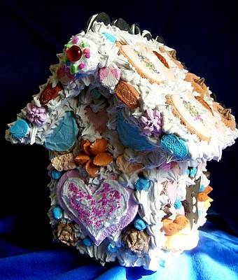 Cookie Birdhouse Sculpture Poster by Kathleen Luther