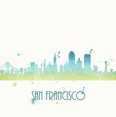 Cool Blue San Francisco Poster by Anna Quach