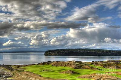 Cool Clouds - Chambers Bay Golf Course Poster by Chris Anderson