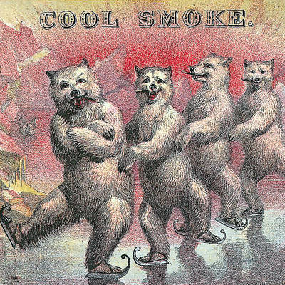 Cool Smoke Cigar Label Poster by Label Art