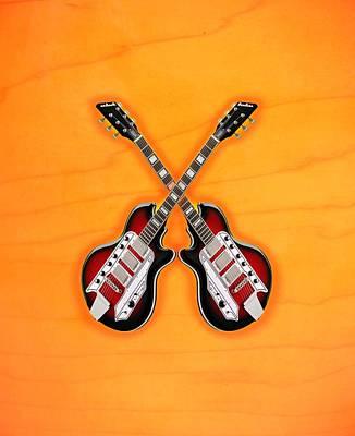 Cool Vintage Guitar Poster by Doron Mafdoos