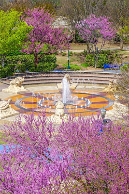 Coolidge Park Fountain In Spring Poster