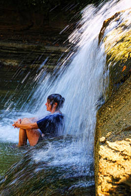 Cooling Off At Stony Brook State Park Poster