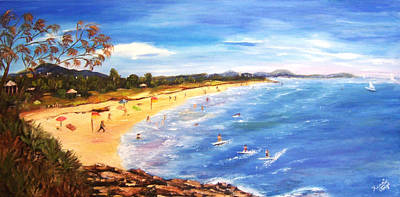 Coolum Beach Poster by Renate Voigt