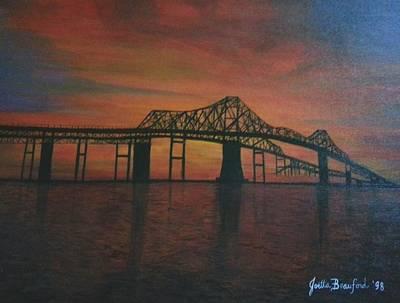 Cooper River Bridge Memories Poster by Joetta Beauford