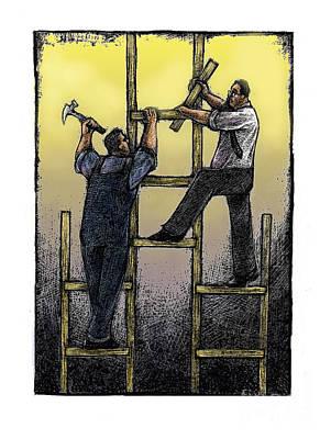 Cooperation Poster by Chris Van Es