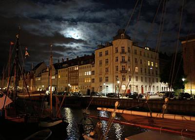 Copenhagen At Night Poster