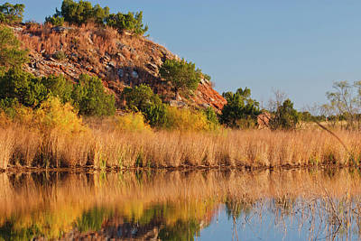 Copper Breaks State Park In Autumn Poster by Larry Ditto