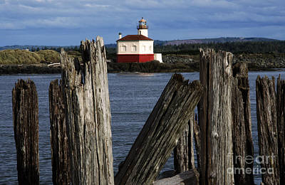 Coquille River Lighthouse Oregon 1 Poster by Bob Christopher