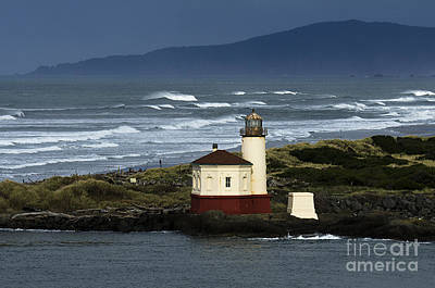 Coquille River Lighthouse Oregon 2 Poster by Bob Christopher