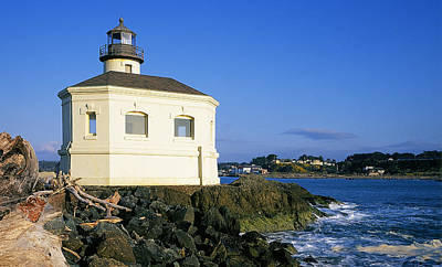 Coquille River Light Poster by Buddy Mays