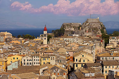Corfu Town Poster