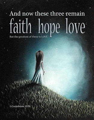 Corinthians Inspirational Bible Verses Poster by Shawna Erback