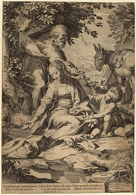 Cornelis Cort After Federico Barocci Netherlandish Poster by Quint Lox