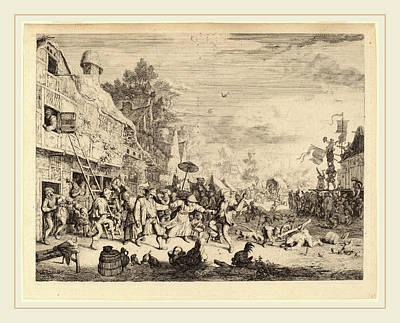Cornelis Dusart Dutch, 1660-1704, Village Festival Poster