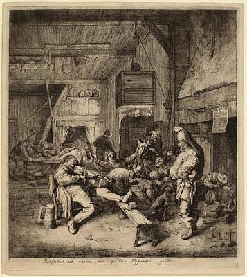 Cornelis Dusart Dutch, 1660 - 1704, Violin Player Seated Poster