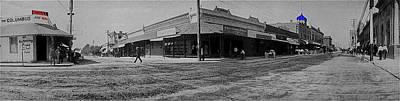 Corner Of Stone And W. Congress Street 180 Degrees Panorama Tucson Arizona C.1905 Poster