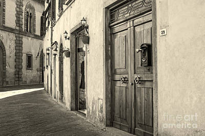 Corner Of Volterra Poster