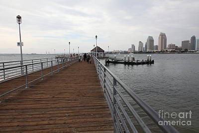 Coronado Pier Overlooking The San Diego Skyline 5d24353 Poster