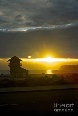 Coronado's Beach At Sunset Poster by Claudia Ellis